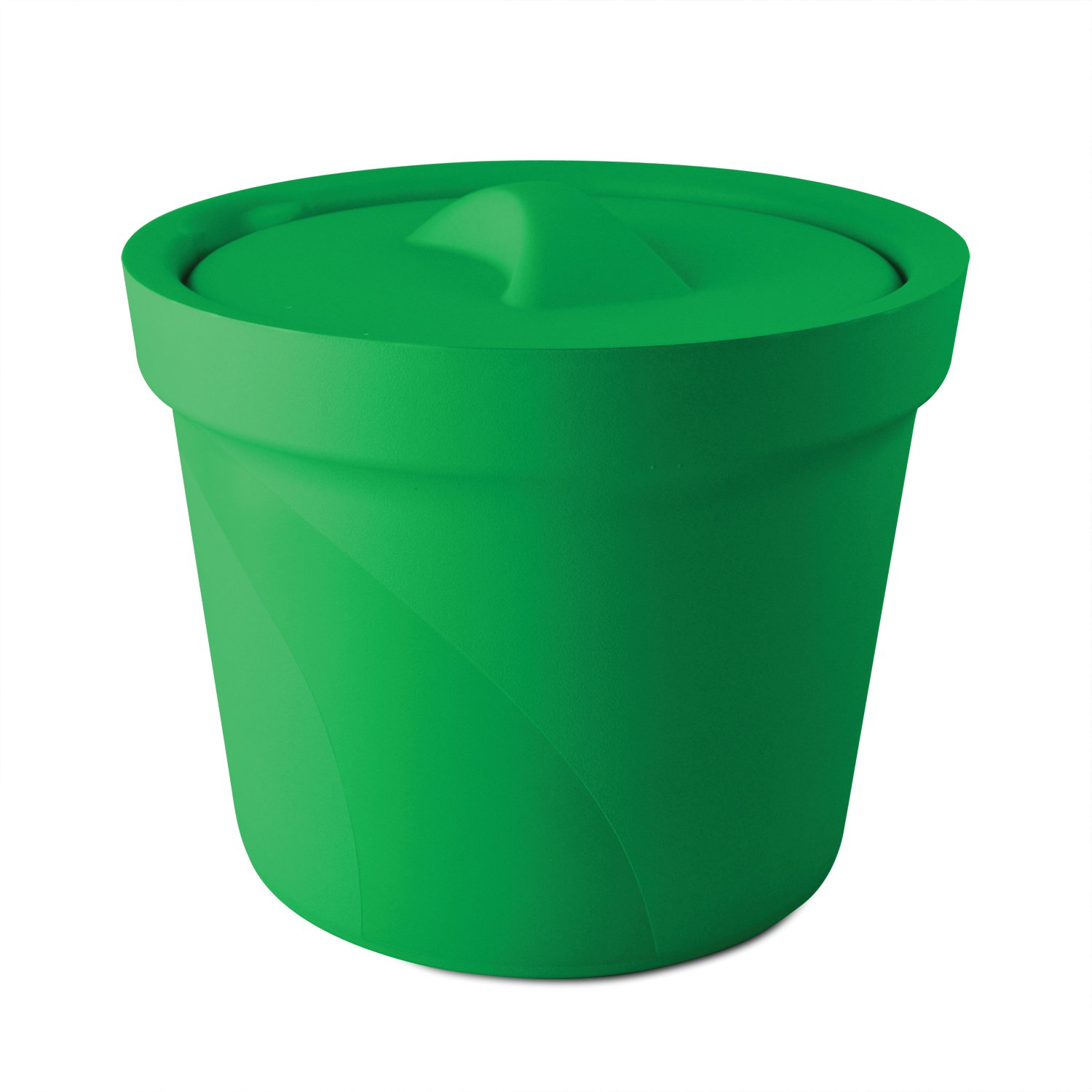 Bel-Art Magic Touch 2 High Performance Green Ice Bucket; 4.0 Liter, With Lid (M16807-4004)