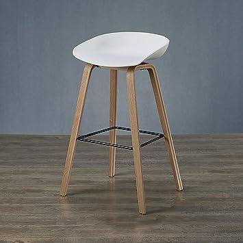Lhby Chair Solid Wood Bar Chair Designer Bar Stool Simple Nordic Bar
