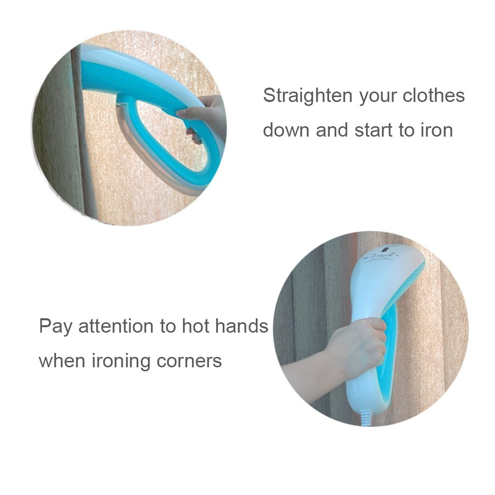 THYMY Handheld Steamer, Fast Heat-up Handheld Portable Fabric Clothes Steamer for Home and Travel