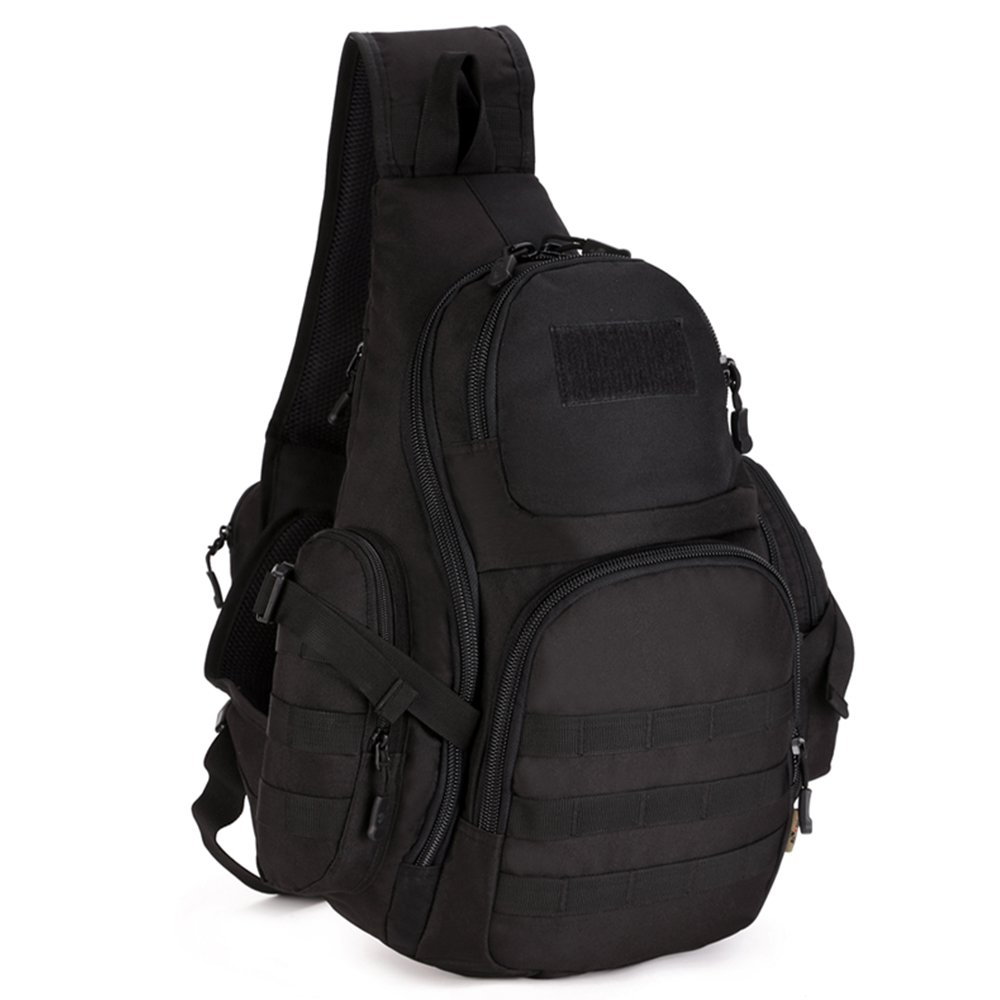 SINAIRSOFT リュックサック バックパック 登山バッグ 大容量 軽量 旅行 通学 出張 男女兼用  ブラック B072XJN8VW