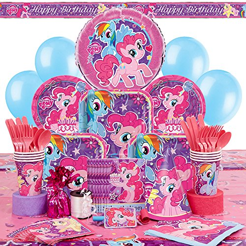 Deluxe My Little Pony Party Supplies Kit for 8 (Pony Candles)