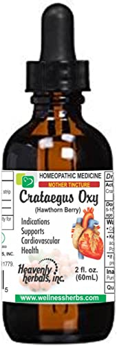 Crataegus Oxyacantha Q – Mother Tincture Hawthorn Berry Extract – Supports Cardiovascular Health and Regulate Blood Circulation Made in USA 2 fl. Oz Homeopathic Medicine Alcoholic Extract