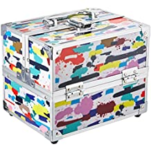 Caboodles Adored Four Tray Makeup Train Case, 2.45 Pound