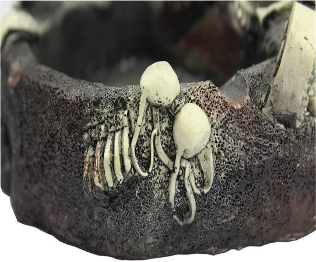 Ai LIFE Cendrier Squelette,Cendrier Cr/âne Cendrier Cendrier Cr/éatif Skull Girl et Fun Go/ût La d/écoration de la Salle de s/éjour