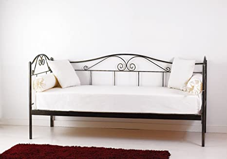 Spazio casa divano letto in ferro con rete a doghe integrata