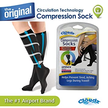 ae413899f5 Image Unavailable. Image not available for. Color: Cloudz - Compression  Flight Socks - Medium (Unisex) ...