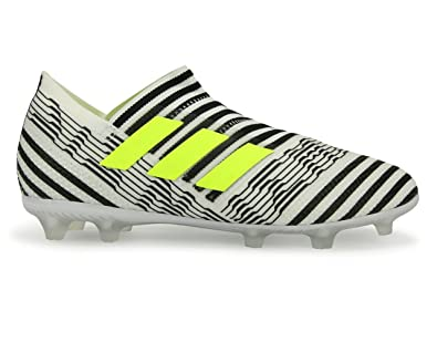 19f2a9698166 adidas Kids Nemeziz Messi 17+ FG White Solar Yellow CORE Black Shoes -