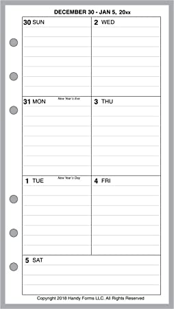 Amazon.com : 2020 Weekly Planner for 6 Ring Binders by ...