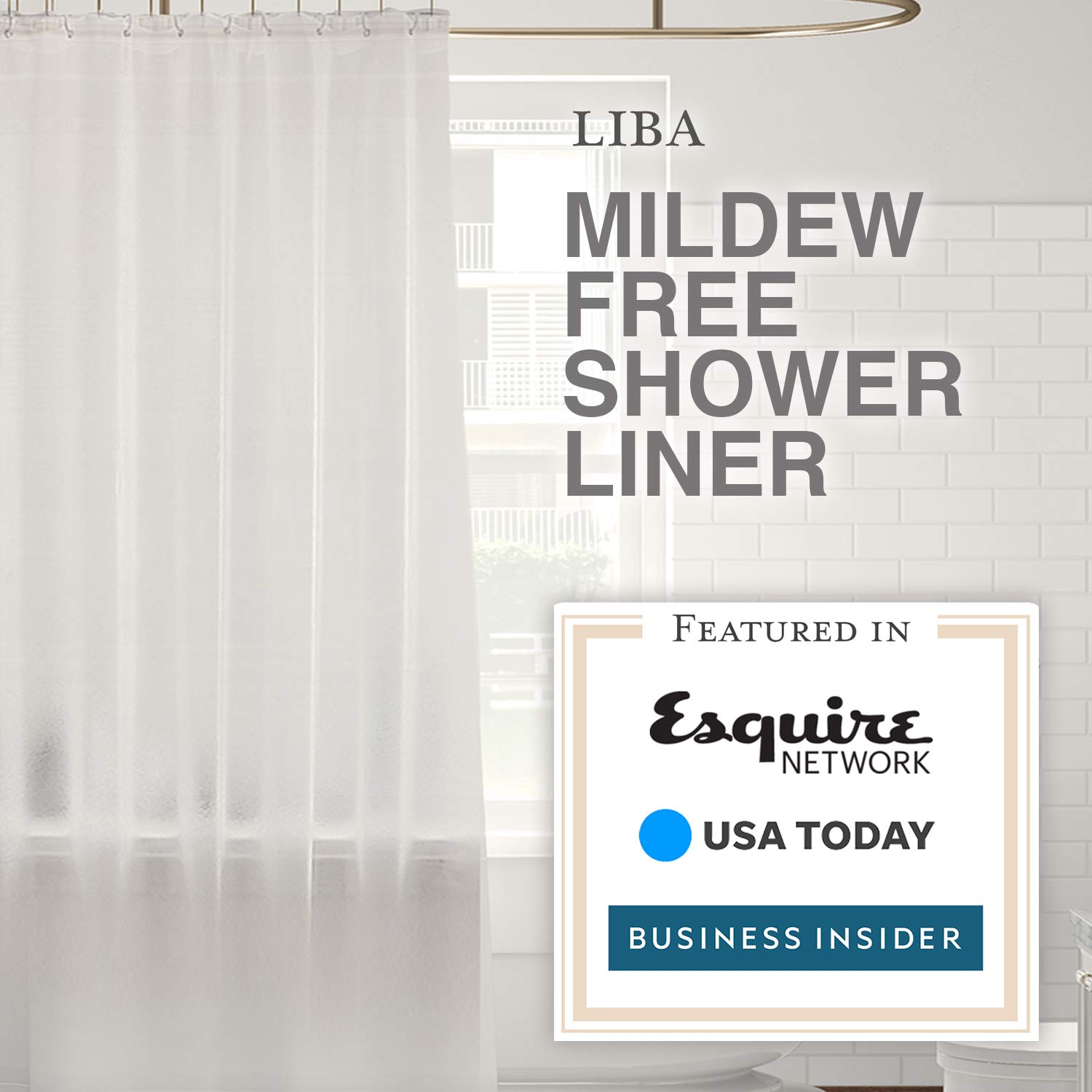 Liba Mildew Resistant Antimicrobial Peva 8g Shower Curtain Liner 72x72 Clear Is 790404177117 Ebay