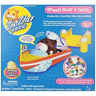 Zhu Zhu Pet Hamster Boat & Dock by Zhu Zhu Pets: Toys & Games