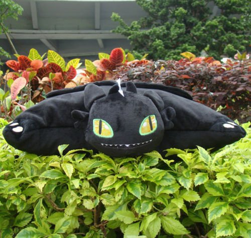 [How To Train Your Dragon 2 Plush Stuffed Cushion Pillow Toothless 15
