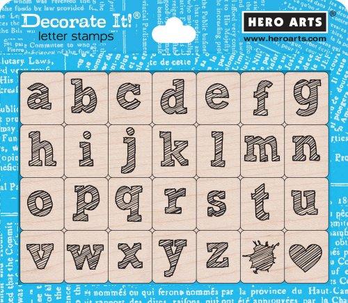 Hero Arts Stylish Letter Lower Case Woodblock Set
