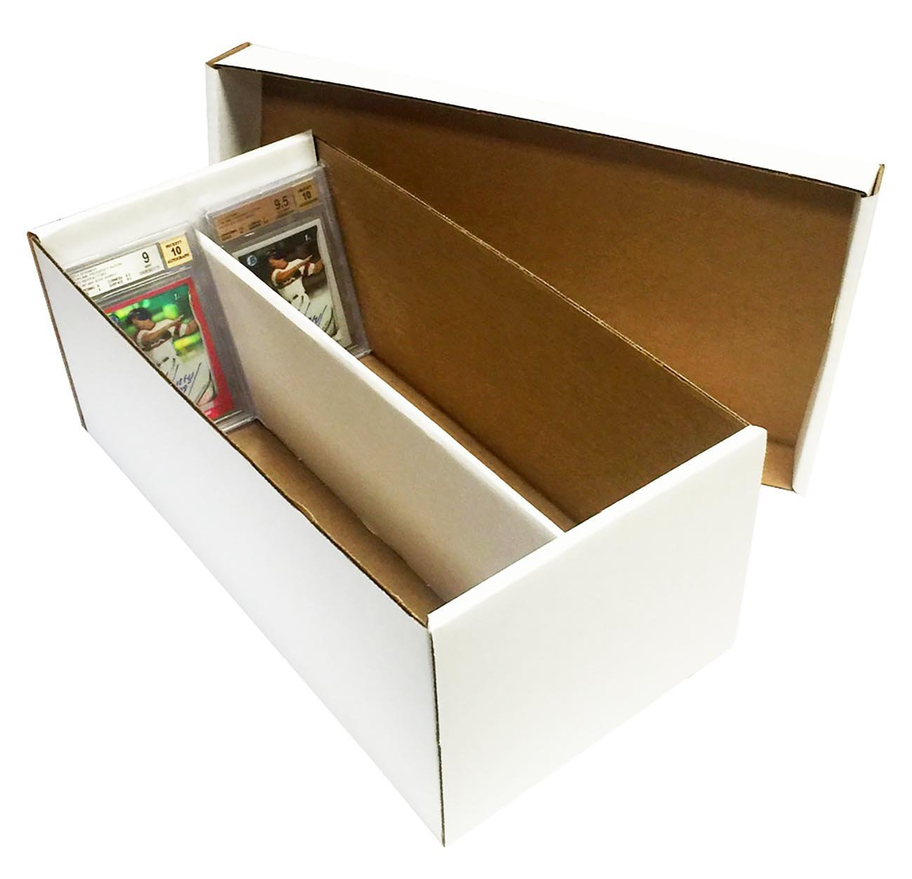 (10) Graded Shoe 2-Row Cardboard Storage Boxes - Baseball, Football, Basketball, Hockey, Nascar, Sportscards, Gaming & Trading Cards Collecting Supplies by MAX PRO - GSB