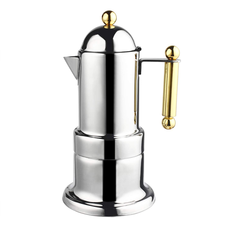 MyLifeUNIT Stovetop Espresso Maker - Moka Pot - 4 Cups / 200 ML 0W-TPSX-F46W