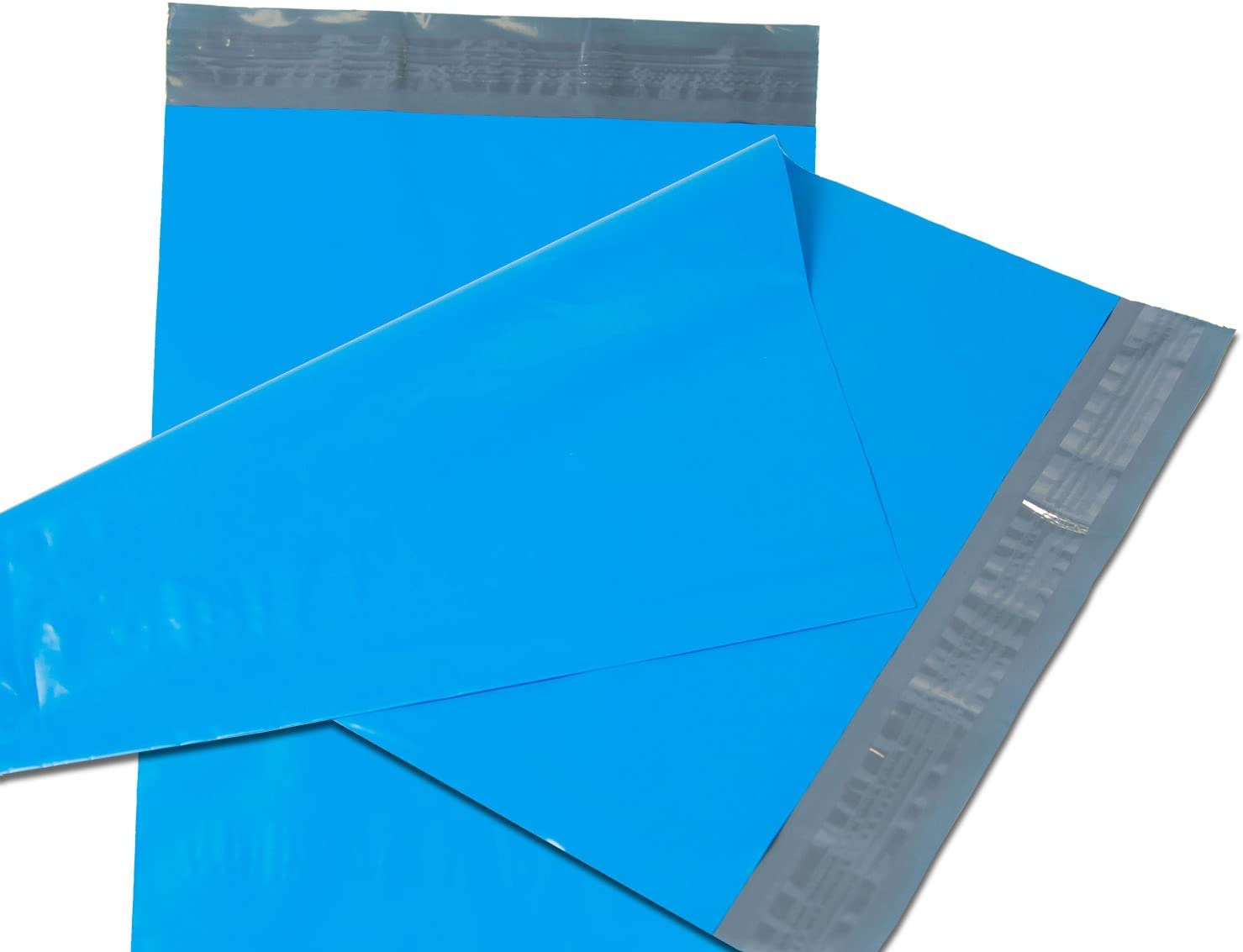 Empire Mailers Blue Poly Mailers Self Seal Non-Padded Shipping Envelopes Courier Bags 7.5 x 10.5 Total 100 Envelopes 100