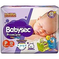 Fraldas descartáveis Babysec Premium Galinha Pintadinha Flexi Protect, Roxo, 20 Unidades, Tamanho P Até 6 Kg
