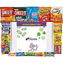 Go Snacking 21 Piece Candy Man Box College Care Package Office Snacks Military Care Package Snacks For Kids Camping Contains Bulk Snacks Candy Cookies Chips Nuts Dried Fruits Assortment Bundle