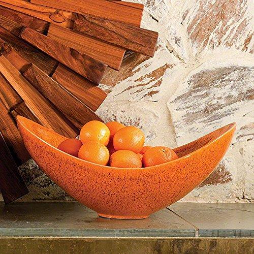 Global Views Swoop Bowl, Orange