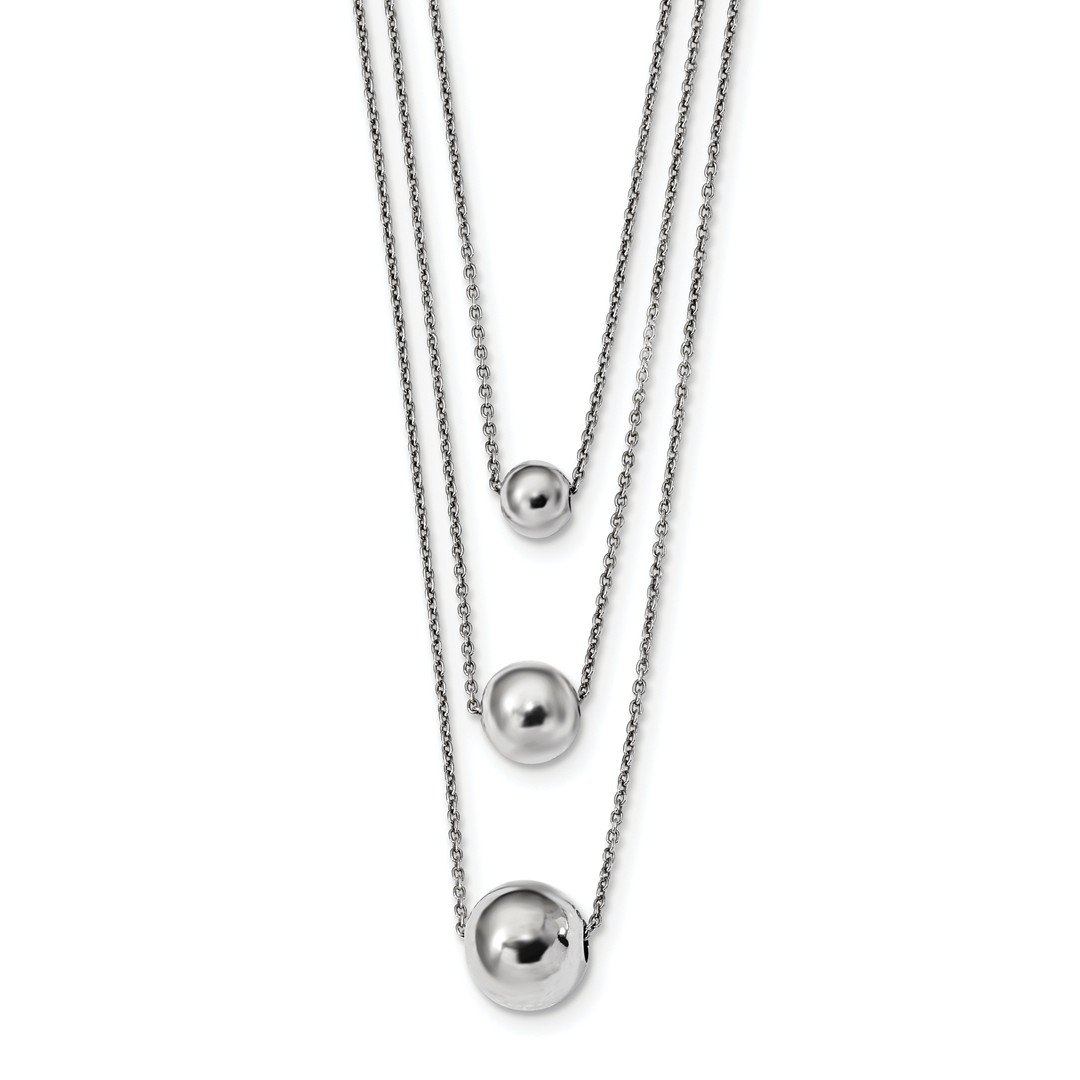 ICE CARATS 925 Sterling Silver 3 Strand 2 Inch Extension Chain Necklace Pendant Charm Fancy Fine Jewelry Ideal Gifts For Women Gift Set From Heart