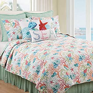 61J9F5Q7nZL._SS300_ 50+ Starfish Bedding Sets and Starfish Quilt Sets
