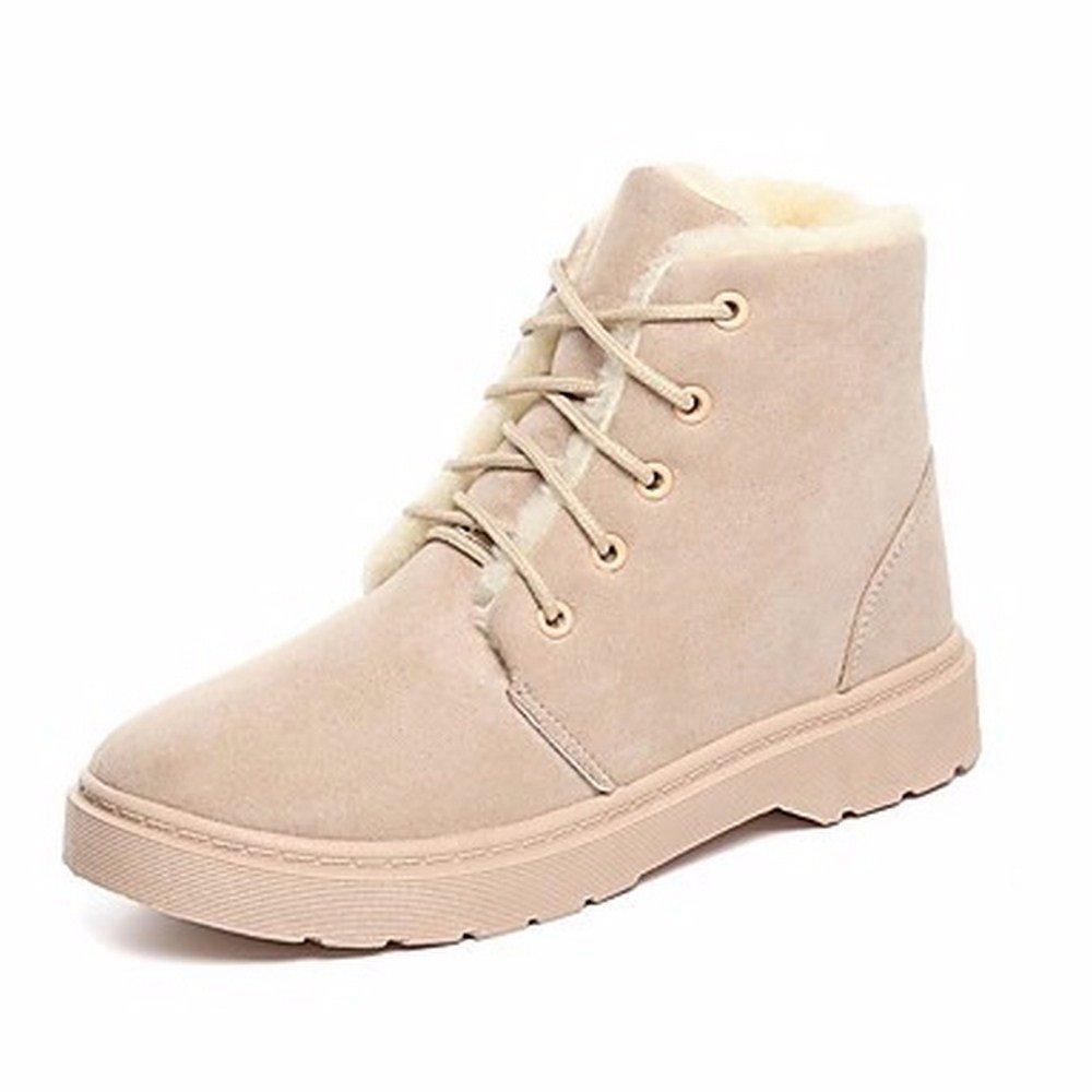Scarpe Snow Tacco Donna ZHUDJ Scarpe Autunno Boots Stivali Donna qwCp8dpX