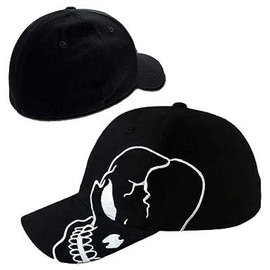 d38d6c33afc Magic. Skull Skeleton Cotton Adjustable Baseball Cap - Black Flex L ...