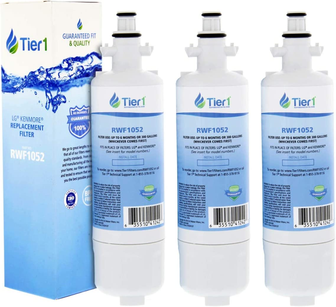 Fits LG LT700P Kenmore 46-9690 ADQ36006101 Comparable Water Filter 3 Pack Plu
