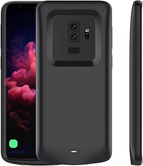 Galaxy S9 Plus Akku Hülle, 5200mAh Integrierten Zusatzakku Battery Case [Stoßfest][Anti Kratz][Ganzkörperschutz] Auflade Akkupack Externe Power Bank