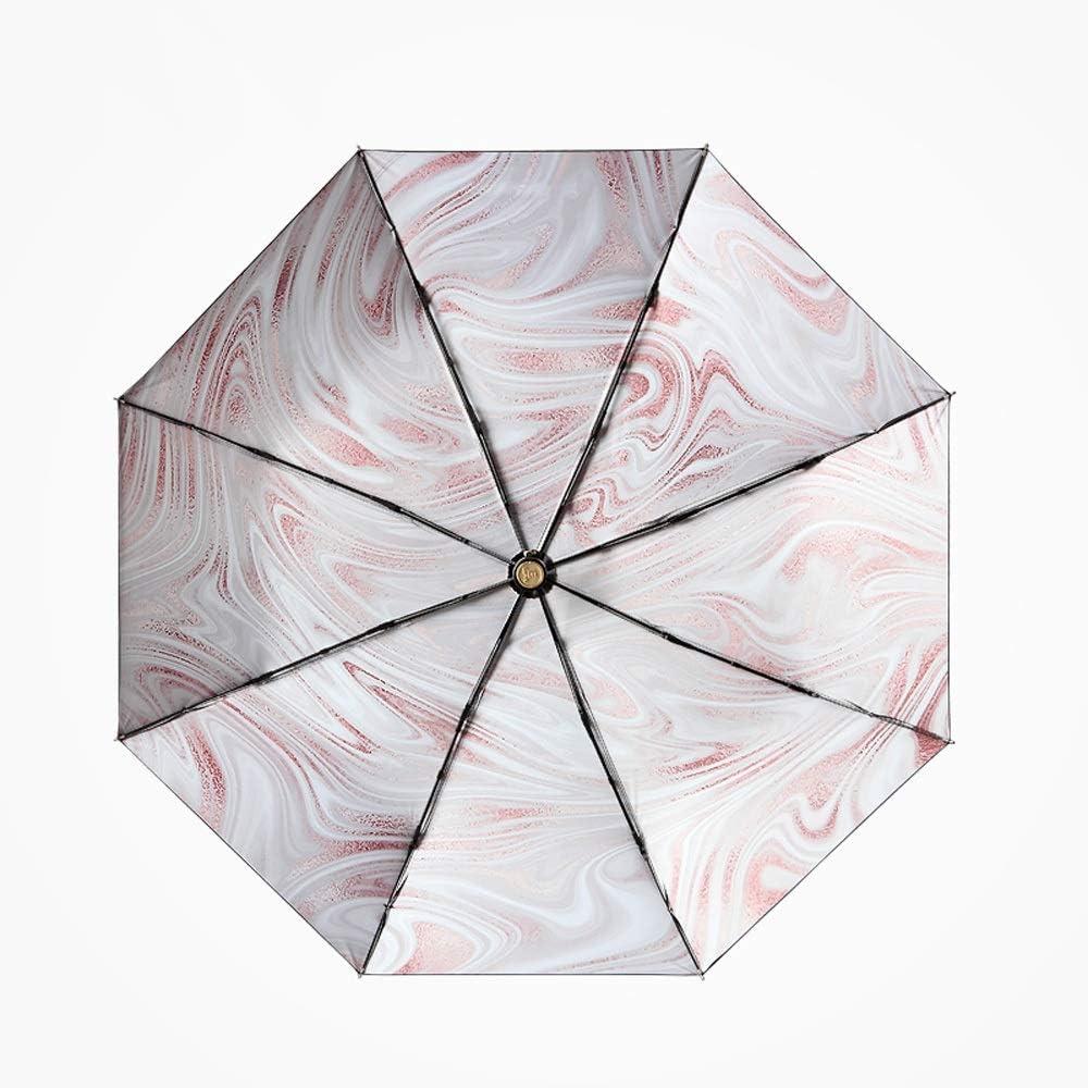 Sunshade Sun Umbrella Anti-UV Female Folding Umbrella Dual-use Sunscreen Super Light Small Three Fold Sun Umbrella Jiu Si Color : Pink