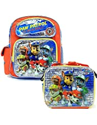 Nickelodeon Paw Patrol 16 Large School Backpack & Lunch Box BRAND NEW