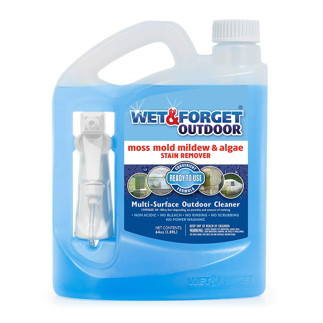 Wet & Forget Outdoor Ready To Use Moss, Mold, Mildew & Algae Stain Remover, 64 OZ. - 804064 by WET & FORGET (Image #1)