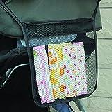 Charis Kid Mesh Stroller Bag - Stroller Attachable Organizer Carrying Bag - Umbrella Baby Stroller Accessories (Black (2 Pack))