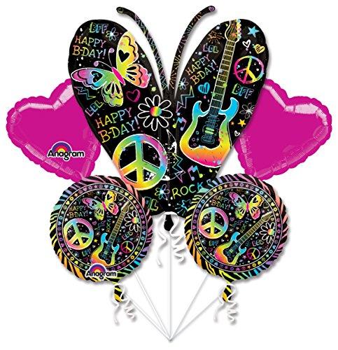 Mayflower BB102628 Neon Birthday Balloon Bouquet -