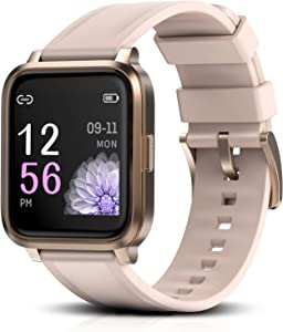 RTAKO Smart Watch for Men Women, Fitness Tracker Watch with Heart Rate Monitor Blood Oxygen Meter, IP68 Swimming Waterproof Smartwatch Compatible with iPhone Android Phones DIY Clock Faces Pink