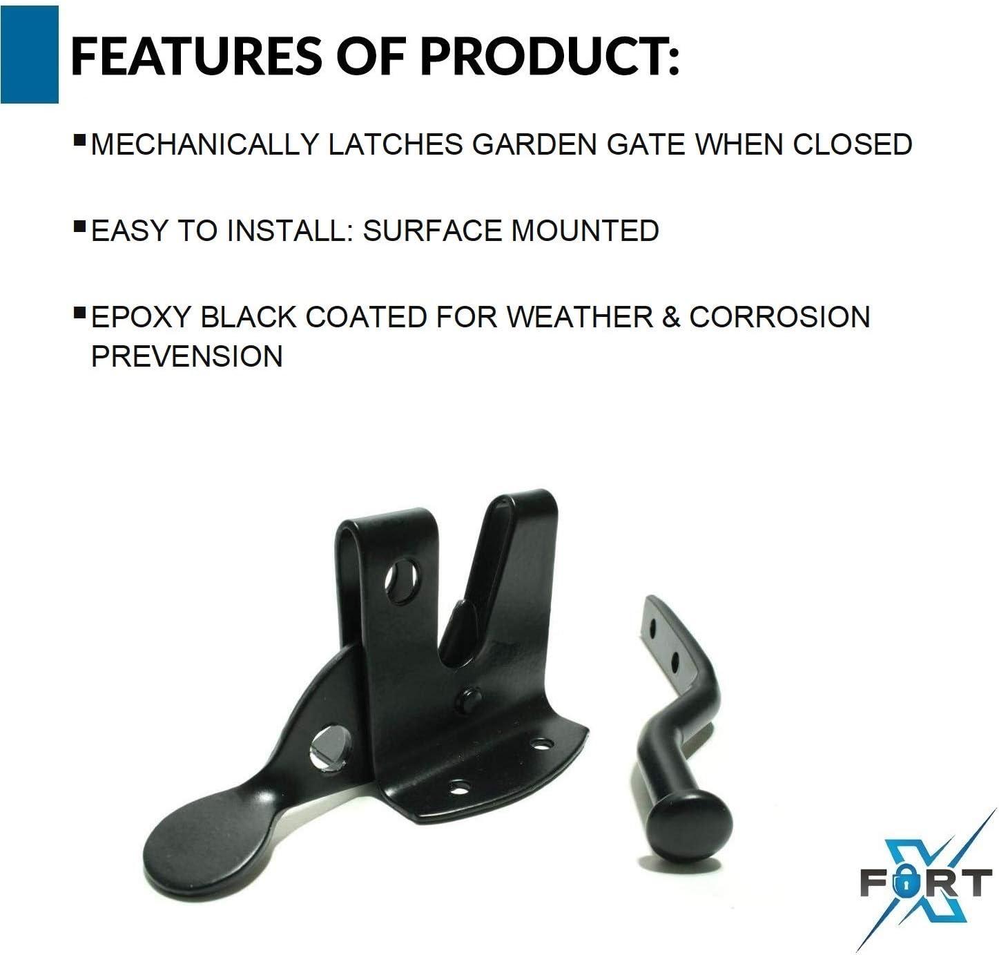 Pestillo de seguridad negro hardware para puertas