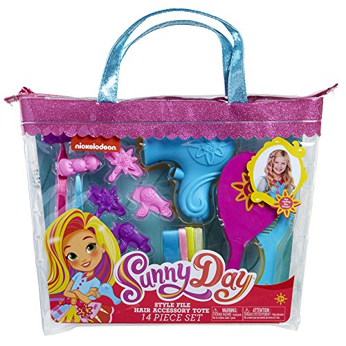 Sunny Day 8215 Sunny Da Hair Style File Accessory Tote Set (14 Piece), Pink/Blue -