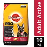 Pedigree PRO Expert Nutrition, Dry Dog Food for Active Adult Dogs (18 Months Onwards) - 10 kg Pack