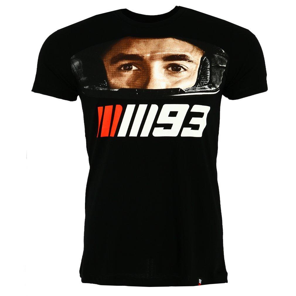 Marc Marquez 93 Moto GP Helmet Negro Camiseta Oficial 2018