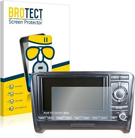AirGlass BROTECT Protector Pantalla Cristal Mate Compatible con Audi Q7 4L 2006-2009 MMI 2G Protector Pantalla Anti-Reflejos Vidrio
