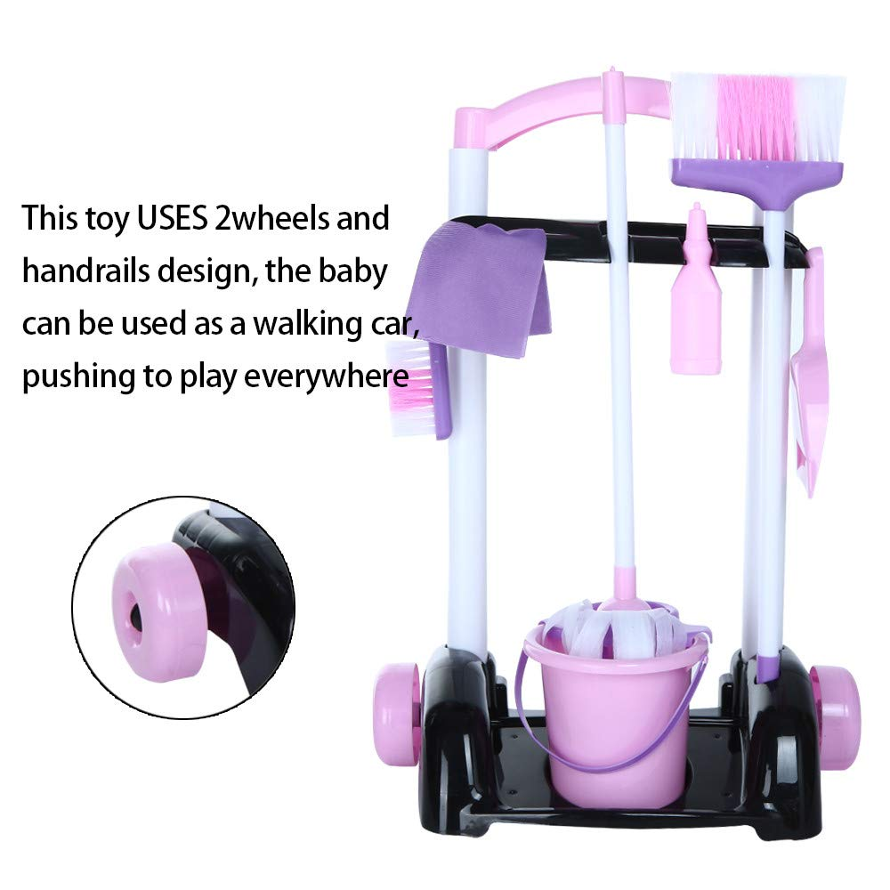 Lywey Childrens Cleaning Set- Broom, Mini Sweeper, Toy Cleaning Supplies That Work! Ship from USA (Two-wheeled) by Lywey (Image #3)