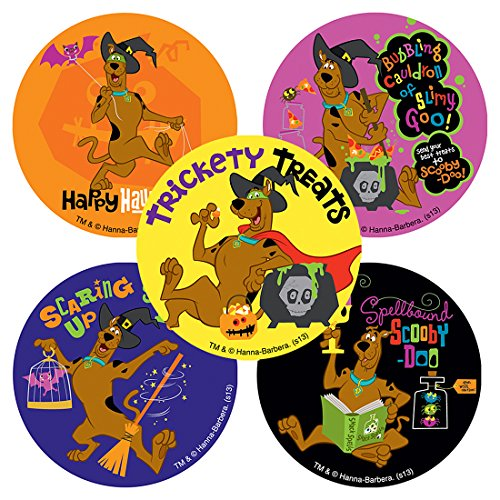 SmileMakers Halloween Scooby Doo Stickers - Prizes 100 per Pack -