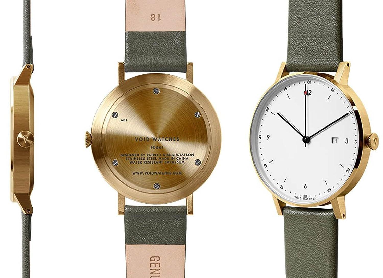 VOID Watch - PKG01 - Gold-Olive-White
