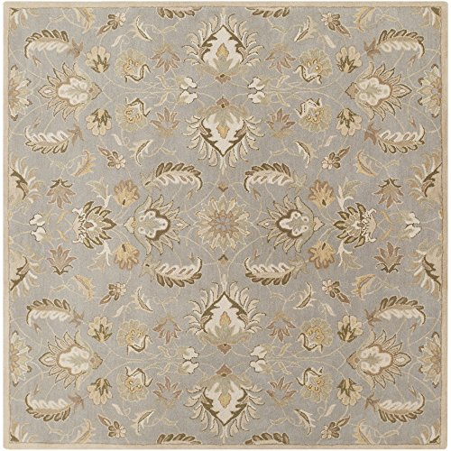 Surya Caesar CAE-1140 Hand Tufted 100-Percent Wool Square Classic Area Rug, 6-Feet
