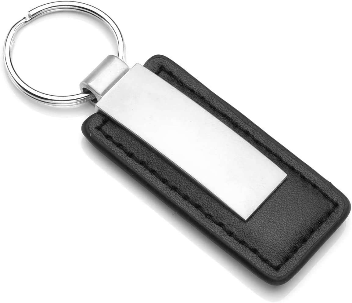 Personalised Engraved Metal Keyring Fob Text Engraving 3 Colours Solid Material