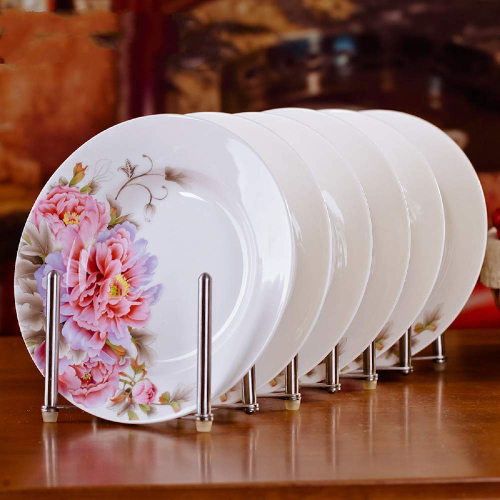 wangmingzhuanmai Plato de cerámica Home Bone China Plate Salad ...
