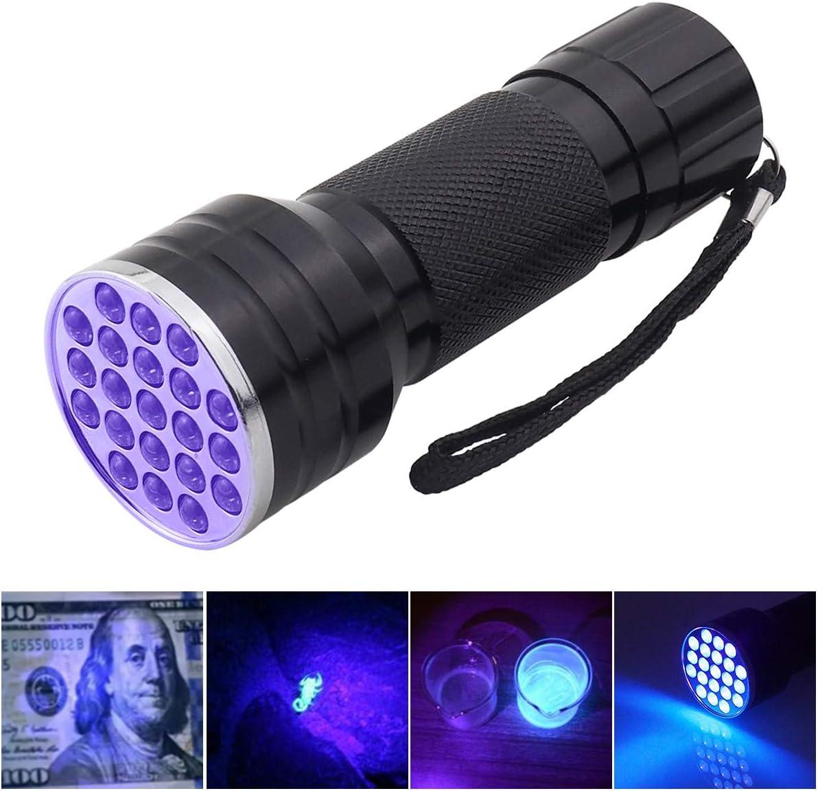 Pocketman UV Flashlight Black Light,2 in 1 UV Flashlight and Tactical Flashlight for Dog or Cat Urine on carpet Pet Stain /& Bed Bug or Camping,Hiking