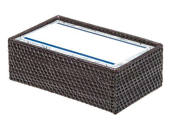 Amazon.com: KOUBOO Rectangular Rattan Tissue Box Cover, Espresso: Home Improvement