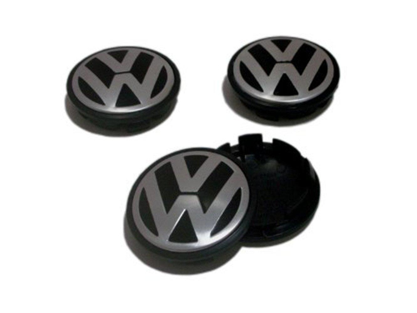 guoyuanzed VW Caddy EOS Golf Jetta Passat CC Phaeton Scirocco Sharan Tiguan Touran Transporter Hubcap Wheel Center Caps 3B7601171 3B7 601 171 (Juego de 4 ...
