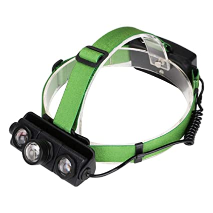 Matefielduk Linterna Frontal LED T6 LED impermeable Zoomable 4 modos al aire libre camping pesca luz