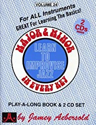 Major & Minor: Learn to Improvise Jazz In Every Key (Play-a-long Book & 2 CD Set)
